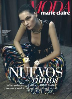 Model Kirsi Pyrhonen joins photographer Danilo Giuliani and stylist Enrique Campos in a visually arresting editorial 'Delicada Armonia', published in Marie Claire Spain's March issue. /Hair by Olivier Lebrun; makeup by Michelle Rainer Marie Claire, Celine, Givenchy, Image Cover, Cover Model, Creative Director, Editorial Fashion, Fashion Models, Spring Summer