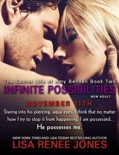 Infinite Possibilities now available! The Secret Life of Amy Bensen book two by @Lisa Renee Jones  Amazon: http://amzn.com/B00GLVLQGE B&N: http://www.barnesandnoble.com/w/infinite-possiblities-lisa-jones/1117366905?ean=2940148960324
