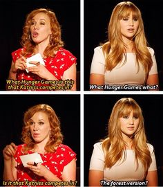 Jennifer Lawrence talking about the Hunger Games lol