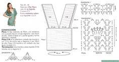 2. Chaleco Largo Escote V - Diagrama