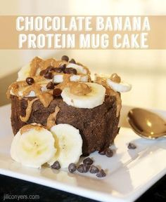 Ingredients: 1 scoopGold Standard Whey Protein 1 egg white 1/4 cup of almond milk 1 tablespoon chocolate chips 1/2 teaspoon baking powder 1 tablespoon unswe