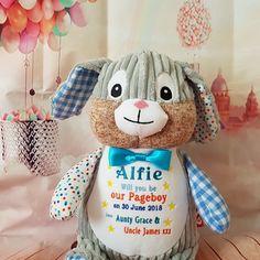 Cubby Harlequin Bunny for Alfie