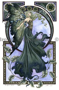 Amy Brown, Green Fairy print