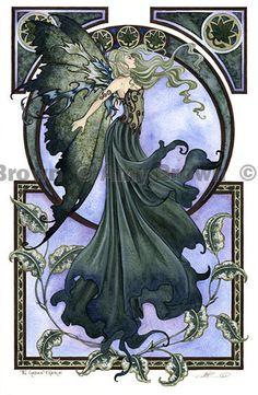Amy Brown, Green Fairy print