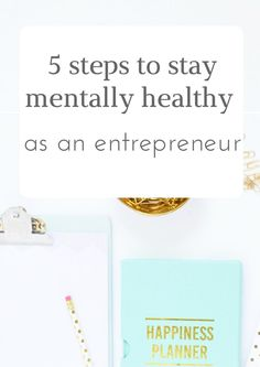 It can be rough working for yourself, and with the amount of small business owners and entrepreneurs on the rise, staying mentally healthy is an integral part of success. Burnout is a real thing, and can be very costly to your business both financially and to your reputation.   Here are 5 steps to stay mentally healthy as an entrepreneur: http://confidentlife.com.au/5-steps-keeping-mentally-healthy-entrepreneur/