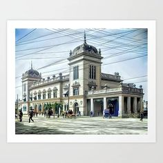 Union Station, Savannah, Georgia ca 1906 (uncaptioned) Art Print Savannah Georgia, Savannah Chat, Colorized History, Union Station, Meet The Artist, Buy Frames, Printing Process, Gallery Wall, Mansions