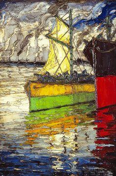 barcos Artwork, Painting, Argentina, Kids House, Boats, Work Of Art, Auguste Rodin Artwork, Painting Art, Artworks