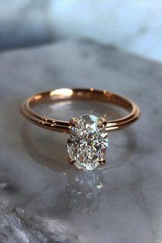 Five Steps To Your Engagement Or How To Do It In A Right Way ❤ rose gold simple engagement ring oval diamond solitaire ❤ More on the blog: https://ohsoperfectproposal.com/steps-your-engagement/