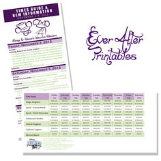 Disney Wedding Welcome Package by EverAfterPrintables on Etsy, $25.00