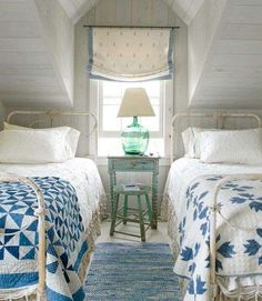 Whether you live on the coast or just dream about ocean breezes, you can enhance the natural beauty of your home with light and airy beach house decor. Beach Cottage Style, Beach Cottage Decor, Nantucket Cottage, Coastal Cottage, Cottage Bedroom Decor, Cottage Style Bedrooms, Beach Chic Decor, Cottage Style Decor, French Cottage
