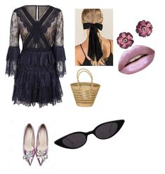 """""""Untitled #3"""" by alexandra-marinela on Polyvore featuring self-portrait, Francesca's and Huda Beauty"""