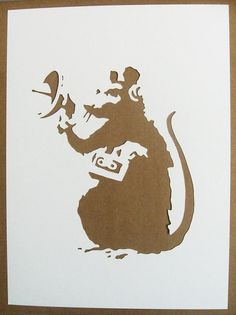 BANKSY Rats Stencils Set Of Five Photographer Sawing por existencil                                                                                                                            More