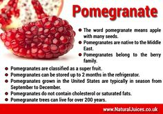 Some facts about Pomegranate.