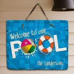 Swimming Pool Plaques Signs Wall Decor Pool Signs Metal Pool Sign  Pool Decor Summer Signs Swimming