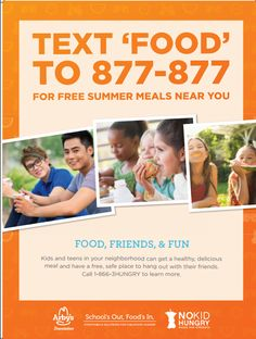 Find free summer meals for Virginian kids 18 and younger near you by texting 'FOOD' to 877-877