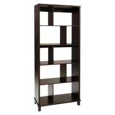 Northfield 5 Tier Bookcase - Espresso - Target - $204 (for recessed nook in living room - to replace current wall shelves)