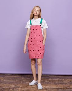 Lazy Oaf Watermelon Dungaree Dress - Clothing - New In - Womens