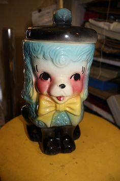 Adorable American Bisque French Poodle Cookie Jar by CoggsAntiques, $140.00
