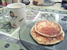 Pancakes with jam for breakfast! ;)