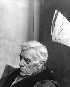 Georges Braque, 1956 (by Arnold Newman) Victim of Photography. Like Picasso a Cubist Pioneer