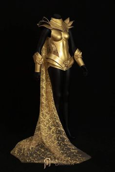 The Reckoner Full Body Regalia Designed By Royal Dissension Golden Armor Suit for women. Fantasy Armor Armor for real life Your best life Golden Eagle Fashion Knight Armor Cosplay