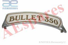 VINTAGE ROYAL ENFIELD FRONT MUDGUARD BULLET 350 NUMBER PLATE ALLOY MADE