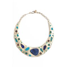 Women's Kendra Scott 'Mira' Jewel Collar Necklace ($295) ❤ liked on Polyvore featuring jewelry, necklaces, semi precious stone necklace, druzy necklace, kendra scott necklace, chunky necklaces and chunky jewelry