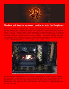 Obtain the best heat emission from your open by installing It will reduce the cost of solid fuel, save your expenditure and the environment as well. Read the PDF Presentation in the link below to know more . Open Fireplace, Presentation, Environment, Pdf, Good Things, Link