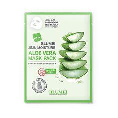 Bluemei Jeju Moisture Aloevera Mask Pack Sheet Skin Care Cosmetic Korea 1pcs #BLUEMEI