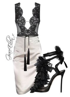 Untitled #103 by miss-grace-ellen on Polyvore featuring polyvore fashion style Lanvin Agent Provocateur Dsquared2 Rosetta Getty clothing