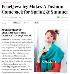MISSION: #Pearls make a fashion comeback courtesy of #Chanel! http://thechicspy.com/index.php/pearl-jewelry-makes-fashion-come-back