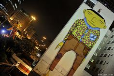 Os Gemeos... wow.  Incredible street artist with installations like non I have seen before.