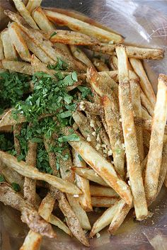 Baked French Fries with Indian Spices from @Cookin' Canuck Dara Michalski