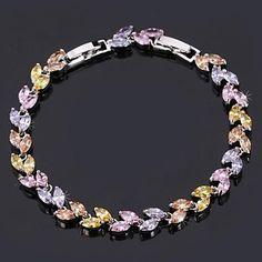 InStyle luksus aaa + zirconia kubik vintage armbånd armbånd 18k guld platin forgyldt smykker af høj kvalitet 17cm 19cm – DKK kr. 75