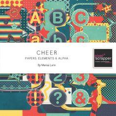 Cheer Bundle by Marisa Lerin   Pixel Scrapper digital scrapbooking