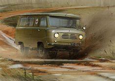 Рисунки автомобилей: Петр Перешивайлов УАЗ-450А