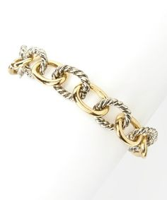 Look what I found on #zulily! Gold & Silver Cable Chain Link Bracelet by Jewelry Nut #zulilyfinds