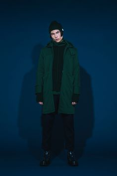 1T03_ Boat-necked Sweater/1T05_Lazy Labor Knitted Sweater/1O08_Splicing Overcoat/1P02_Trensverse-Cut Trousers/1A01_Knitted Beanie