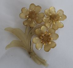 Vintage plastic floral brooch by purrfectstitchers on Etsy, $22.00