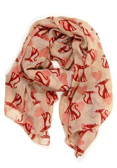 Frenchie Kitty Scarf - $14.99 : Spotted Moth, Chic and sweet clothing and accessories for women