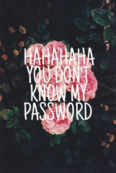 #flowers / you don't know my password  / indie
