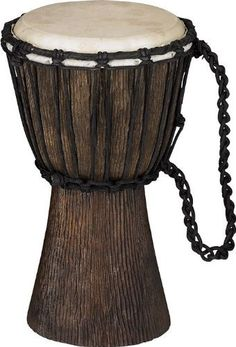 Schalloch Rope-Tuned Djembe Xs by Schalloch. $29.99. These professional-grade instruments are carved by hand from one solid piece of mahogany. This authentic craftsmanship is needed to get the huge sound--the whole body of the drum resonates as one unit since it is hollowed from one tree. The heads are real goat skin, which is thinner than most heads so you can easily get the popping slap tones and the giant bass tones. The ropes are pre-stretched so once you set the tuning it wi...