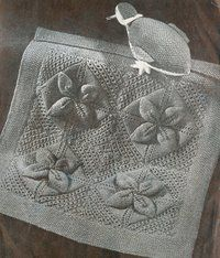 Counterpane leaf blanket and toy duck knitting pattern