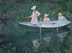 Claude Monet, En norvégienne, la barque à Giverny...