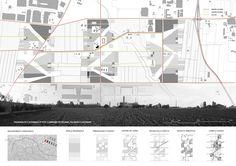 Serena Muccitelli, Livia Valentini, Azzurra Muzzonigro · VERDE AL CENTRO Master Plan, Competition, Floor Plans, Diagram, Urban