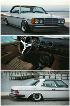Mercedes-Benz W123 Coupe lowered and with some nice touches