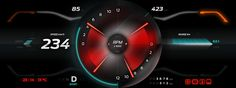 Graphic User Interface for electric car -  RIMAC