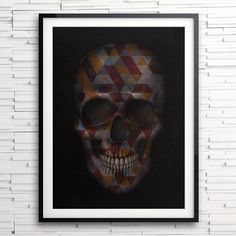 """. ""Skull Triangles""  Inspiration in your walls!  www.franciscovalleart.com  #urbanarts #skulls #s6 #decor #society6 #juniqe #decoração #tattoo #skullart…"""