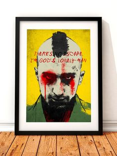 Taxi Driver poster art Taxi Driver print film by TheIndoorType