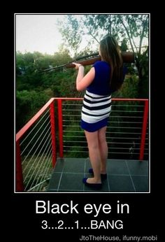 Haha, this girl doesn't know how to shoot a gun.